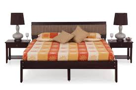 Cheap King Size Bed Sheets Online India King Size Double Bed And End Table With Drawer Buy Bedroom Sets
