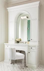 Vanity Stools And Chairs White Bath Vanity With Arched Mirror And White Terry Cloth Vanity