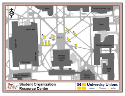 Map Of University Of Michigan Banner Locations Map Sorc