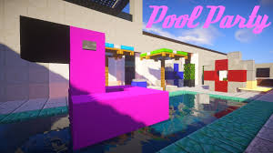 5 1 awesome pool party decorations in minecraft 1 12 flamingo