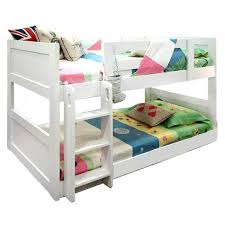 Low Bunk BedsHotshot Wp Low Bunk W Straight Ladder Twin White - Low bunk beds