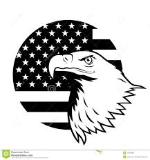 Black And White Us Flag Weißkopfseeadler Gegen Usa Flagge Vektor Abbildung Bild 43263802