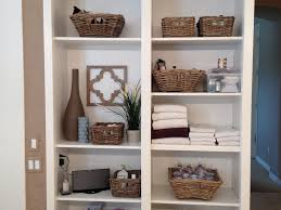 Storage Bookshelves With Baskets by Bathroom 23 Furniture Charming Storage Shelves With Rattan