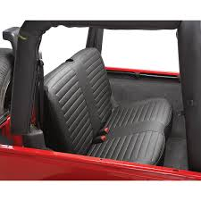 seat covers jeep wrangler 29229 35 bestop rear bench seat cover black for jeep