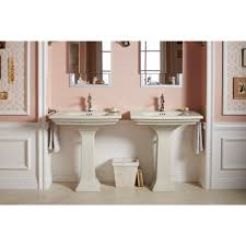 kohler k 2268 1 0 memoirs white pedestals single bowl bathroom