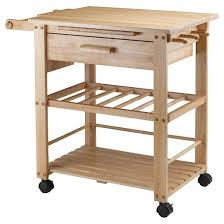 Finland Kitchen Cart WoodNatural Winsome  Target - Kitchen cart table