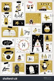 advent calendar christmas poster stock vector 525206515 shutterstock