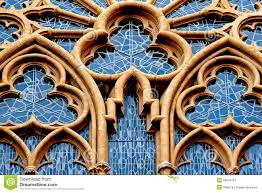 ornamental window of the church in germany royalty free stock