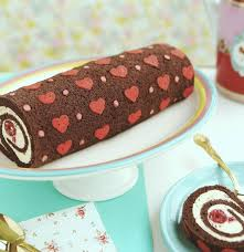 cake diy diy project heart patterned cake roll design sponge