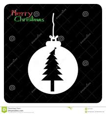 merry christmas silhouette christmas tree in christmas ball