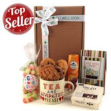 get well soon gift basket get well soon gift hers send a get well tea and sympathy