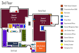 University Library Floor Plan Floor Plans Mississippi State University Libraries