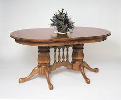 reeded double pedestal extension table town u0026 country furniture