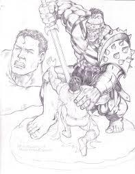 hulk vs superman by darededo on deviantart