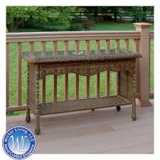 Rattan Console Table Outdoor Console Table Resin Wicker Furniture