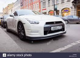 white nissan 2016 saint petersburg russia april 13 2016 white nissan gt r