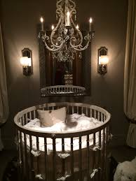 Nursery Chandelier Bedroom Wonderful Round Cribs For Nursery Furniture Ideas
