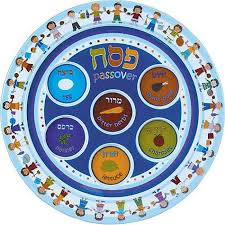 seder plate for kids passover kid s melamine seder 9 plate kitchen dining