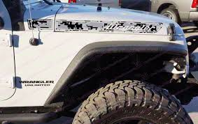grey jeep rubicon jeep wrangler grey urban digital camo retro hood decals for