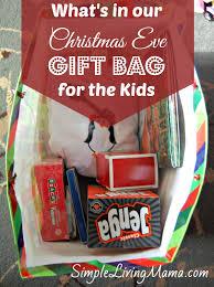 christmas eve gift tradition gift bag for kids simple living mama