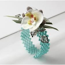 turquoise corsage narrow classic corsage bracelet turquoise corsage creations