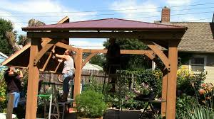 Outdoor Patio Gazebo 12x12 by Costco Yardistry 12x12 Cedar Gazebo Rafters Panels Raising The
