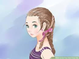 how to cut your own curly hair in layers 4 ways to cut your own curly hair wikihow