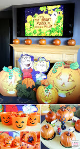 halloween party decorating ideas it u0027s the great pumpkin charlie brown halloween party soiree