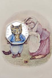 when does the tom kitten 50p coin come out release date design