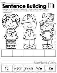 pictures on sentence writing worksheets for kindergarten bridal