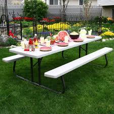 Lifetime Outdoor Furniture Lifetime Commercial 8 U0027 Picnic Table Putty Sam U0027s Club