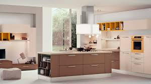 contemporary kitchen wood veneer island adele cucine lube
