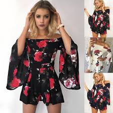jumpsuit shorts uk shoulder floral playsuit dress