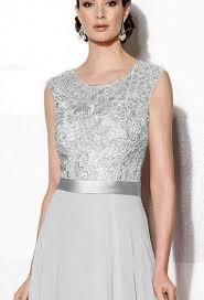 grace silver grey lace chiffon long bridesmaid formal occasion