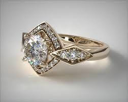 gold art rings images Art deco geometric diamond engagement ring 18k yellow gold 17022y jpg