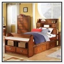 Bed With Bookshelf Headboard Bookshelf Headboard King Foter