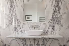Dramatic Shower Curtain Bathroom Of The Week In London A Dramatic Turkish Marble