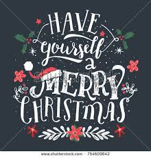 yourself merry lettering stock vector