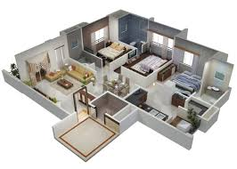 house design and lay out ideas bhk 3 bedroom flat plans 3d trends