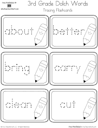 third grade dolch sight words tracing flashcards a to z teacher