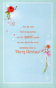 traditional thinking of you at christmas greeting card lovely
