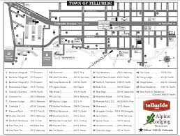 Telluride Colorado Map by Telluride And Mountain Village Lodging Maps Telluride Com