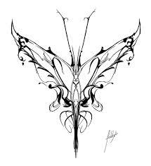 cool sle sketching of tribal butterfly tattoomagz