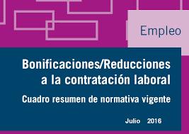 bonificaciones contratos 2016 bonificaciones contratos de trabajo julio 2016