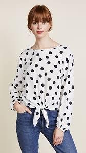 tie front blouse three dots dot voile tie front blouse shopbop