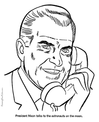 richard m nixon coloring pages free and printable