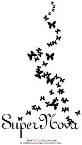 flying butterflies tattoos design