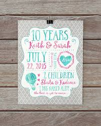 10 year anniversary present the 25 best tenth anniversary gift ideas on 10 year