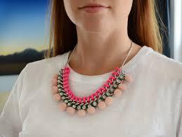 diy necklace images Diy pom pom statement necklace jpg