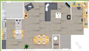 salon de cuisine plan cuisine ouverte sur salon